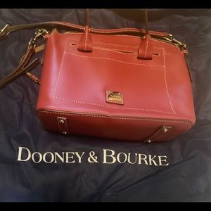 Dooney and Bourke red leather satchel